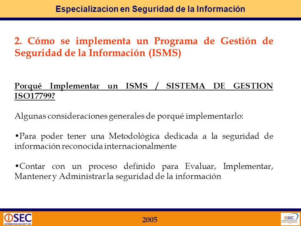 2. Cómo se implementa un Programa de Gestión de Seguridad de la Información (ISMS)