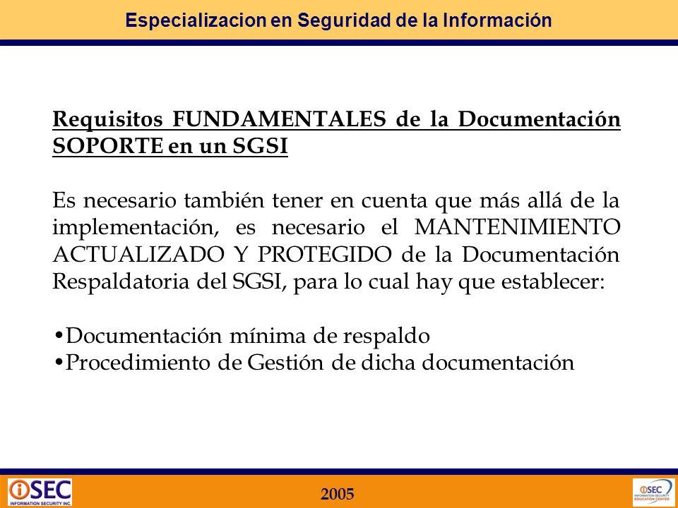 Requisitos FUNDAMENTALES de la Documentación SOPORTE en un SGSI