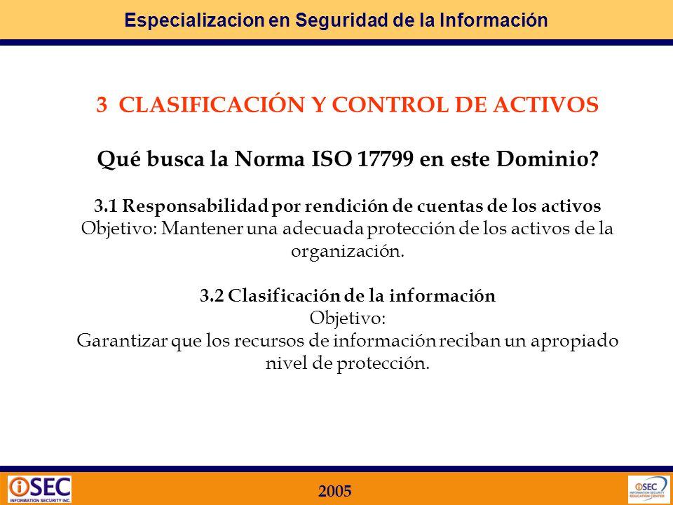 3 CLASIFICACIÓN Y CONTROL DE ACTIVOS