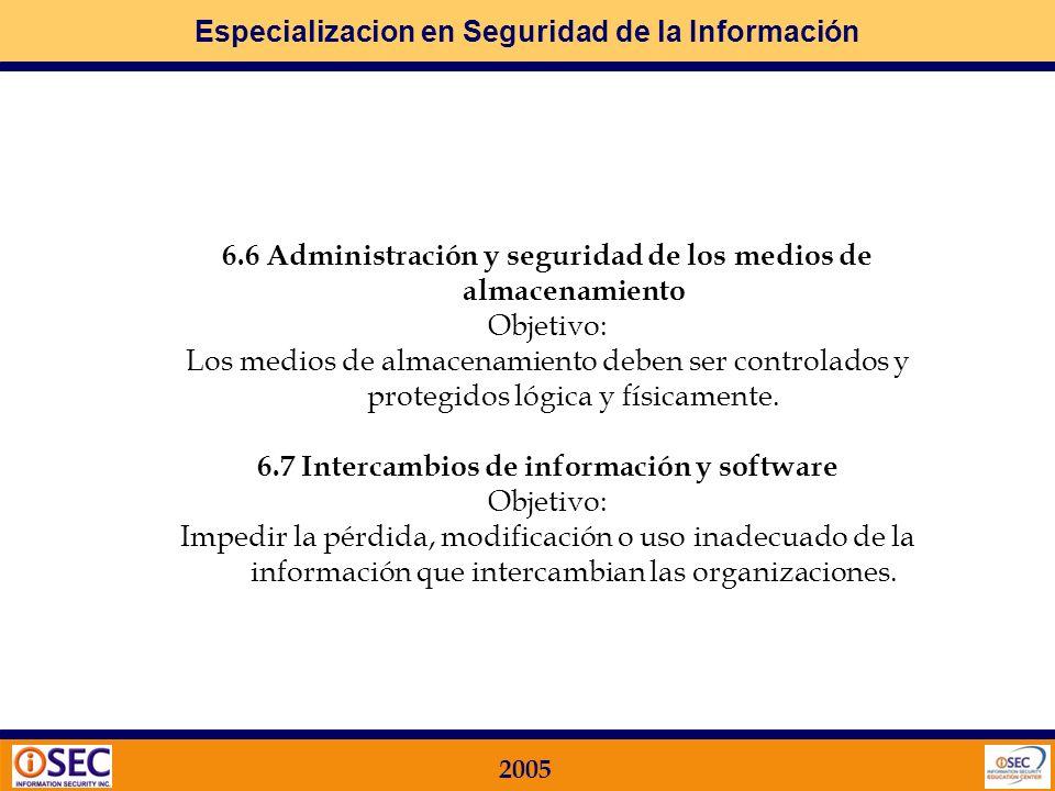 6.6 Administración y seguridad de los medios de almacenamiento