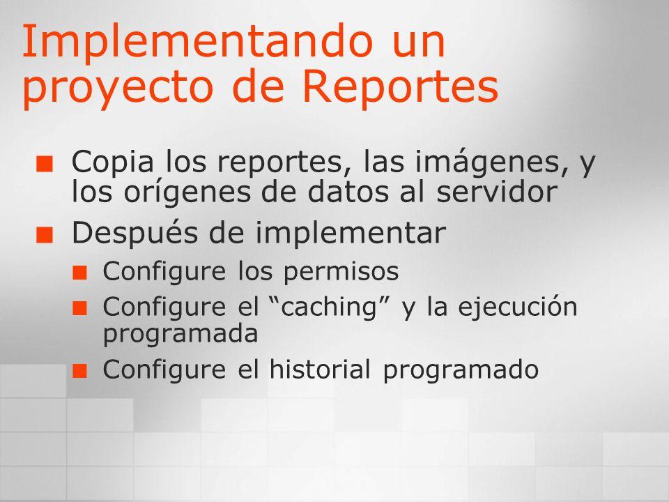 Implementando un proyecto de Reportes