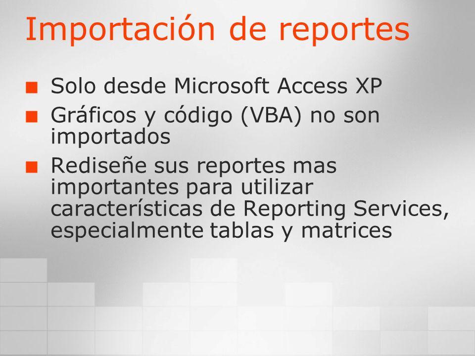 Importación de reportes