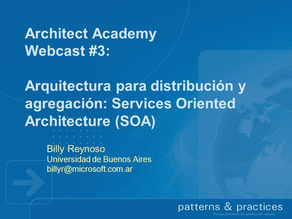 Billy Reynoso Universidad de Buenos Aires billyr@microsoft.com.ar