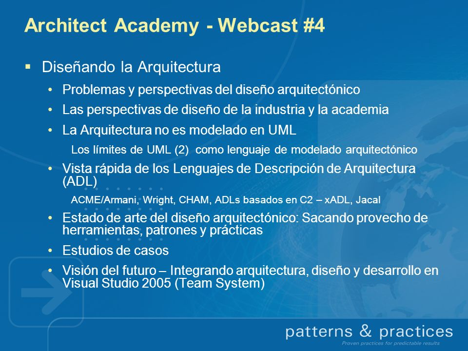 Architect Academy - Webcast #4
