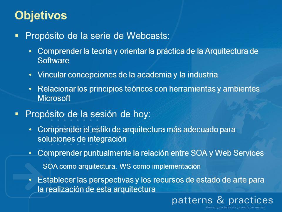 Objetivos Propósito de la serie de Webcasts: