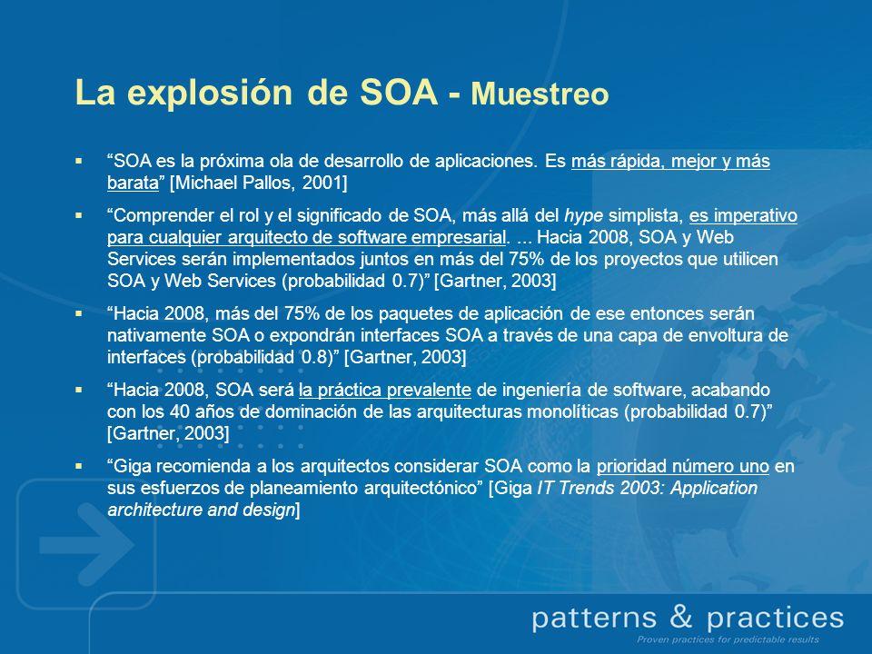 La explosión de SOA - Muestreo