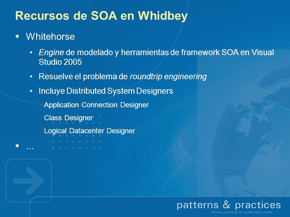 Recursos de SOA en Whidbey