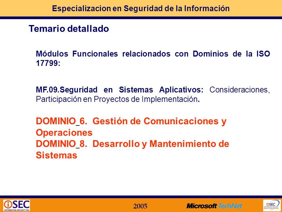 DOMINIO 6. Gestión de Comunicaciones y Operaciones