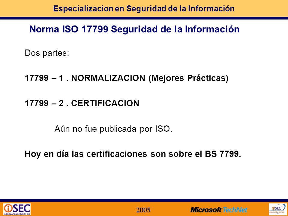 Norma ISO 17799 Seguridad de la Información