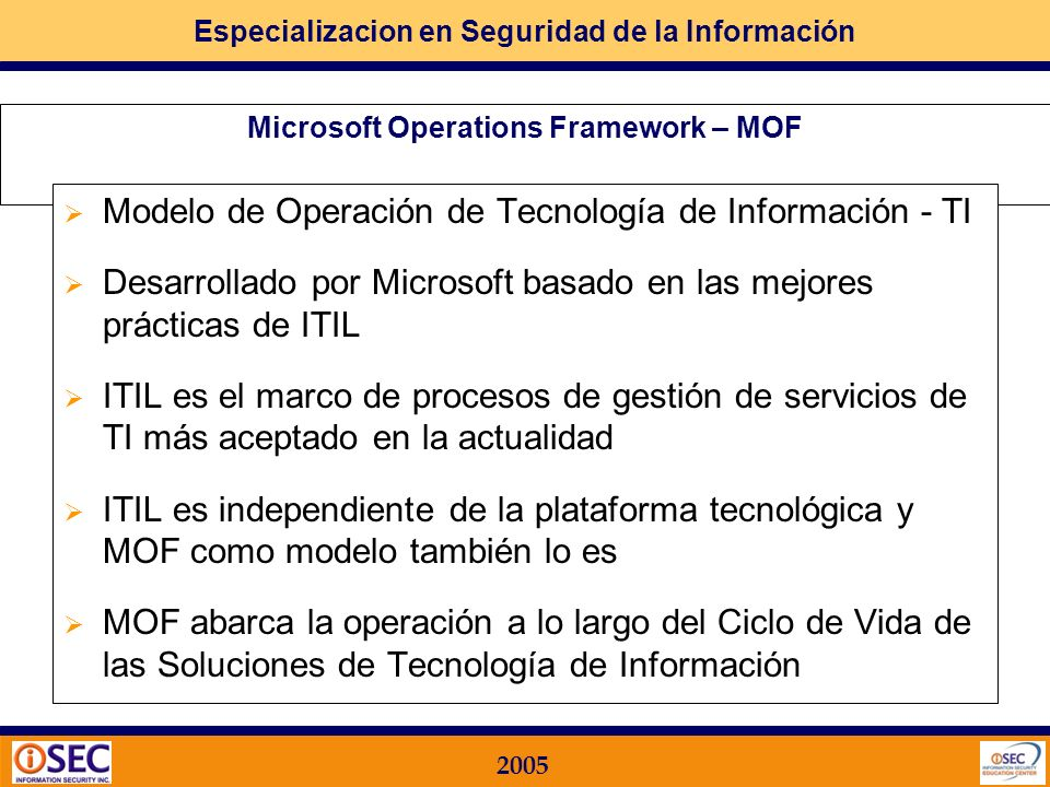 Microsoft Operations Framework – MOF