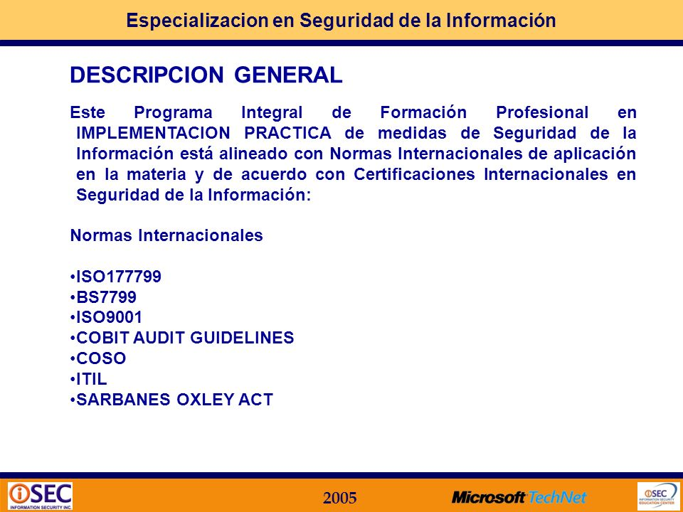 DESCRIPCION GENERAL