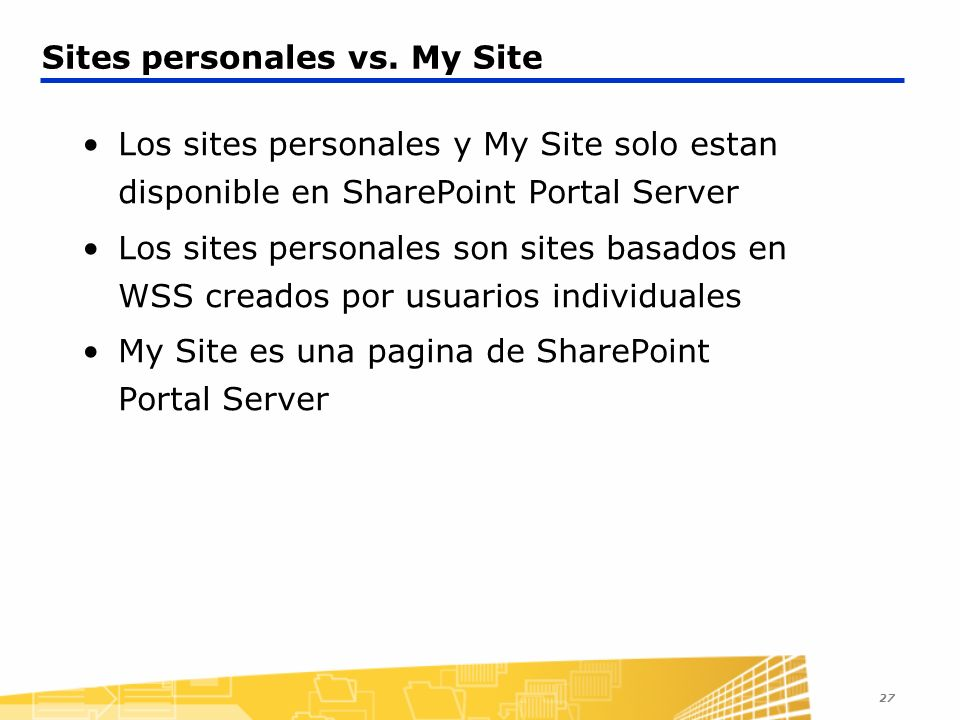 Sites personales vs. My Site