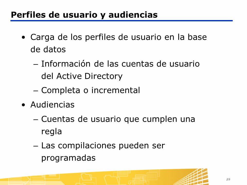 Perfiles de usuario y audiencias