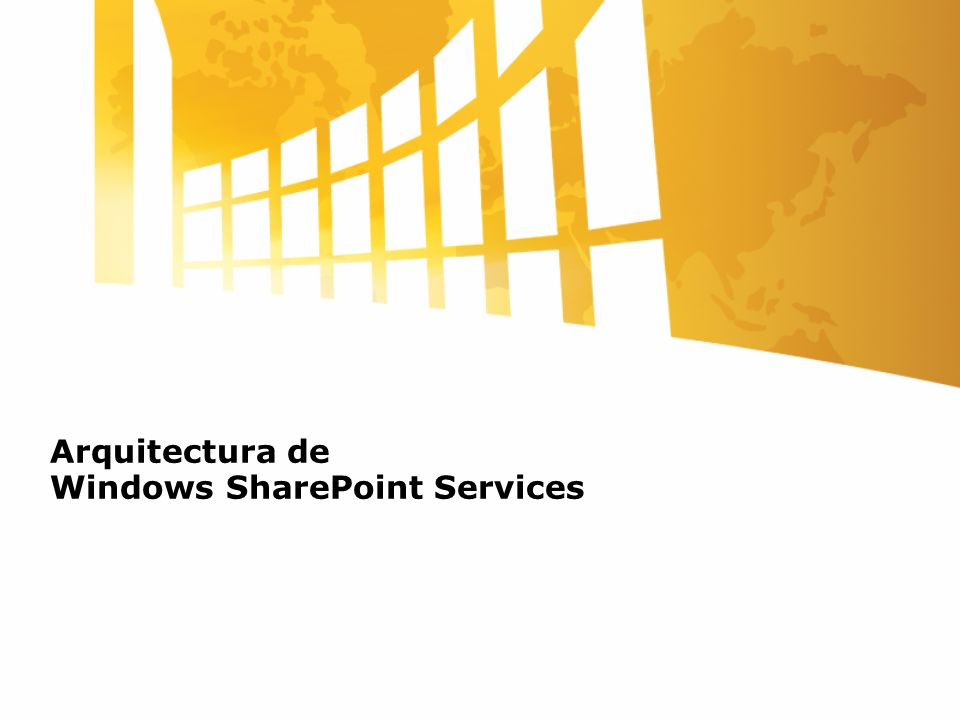 Arquitectura de Windows SharePoint Services