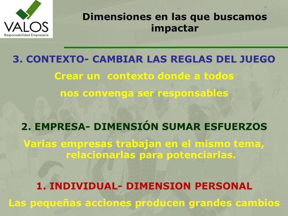 Dimensiones en las que buscamos impactar