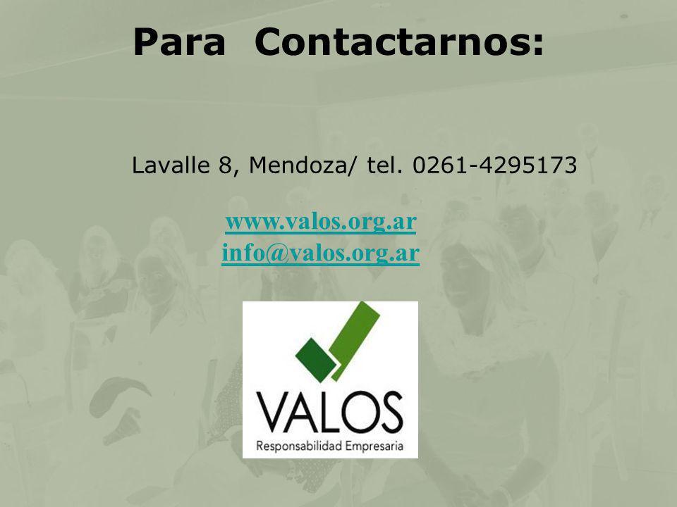 Para Contactarnos: www.valos.org.ar info@valos.org.ar