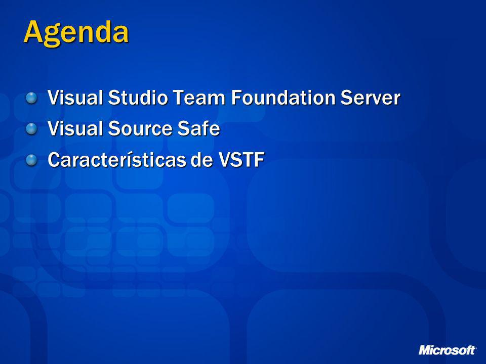 Agenda Visual Studio Team Foundation Server Visual Source Safe