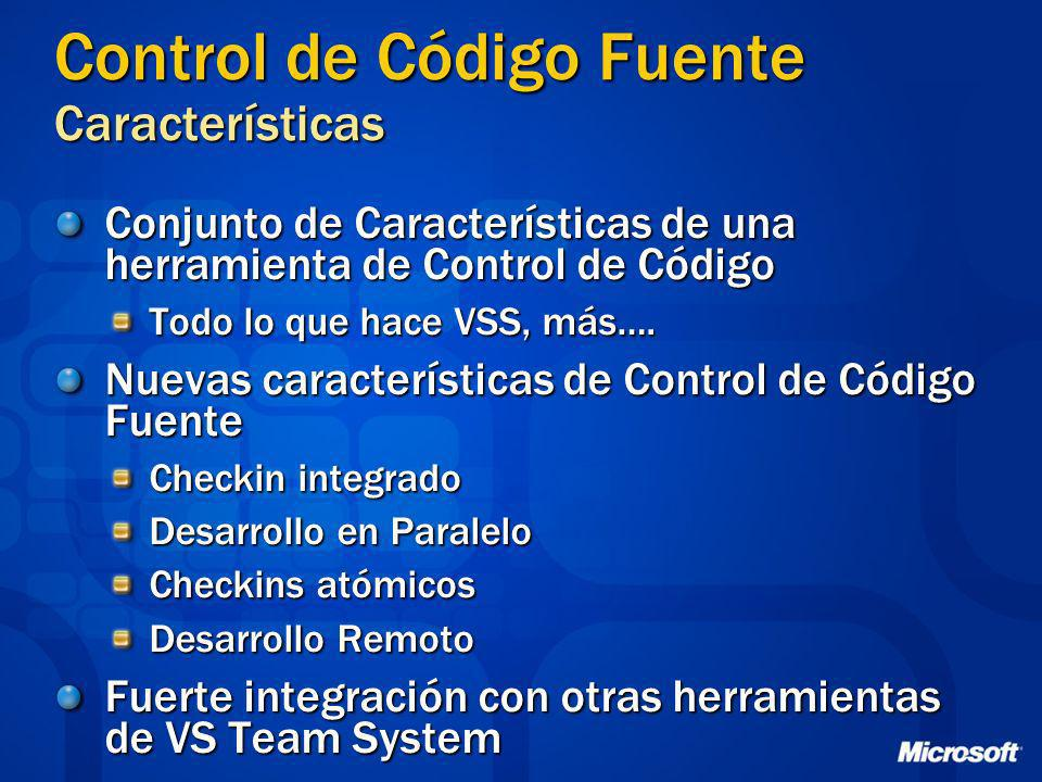 Control de Código Fuente Características