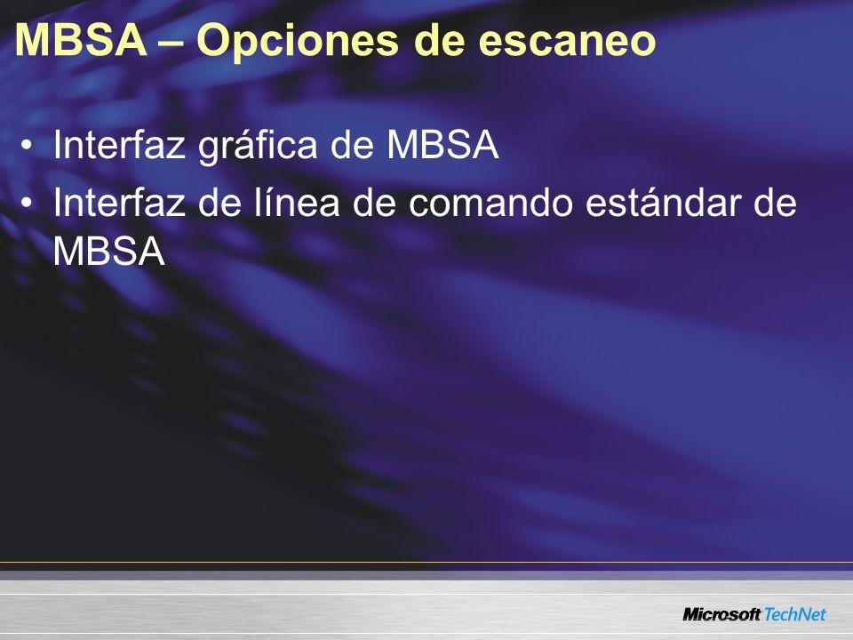 MBSA – Opciones de escaneo