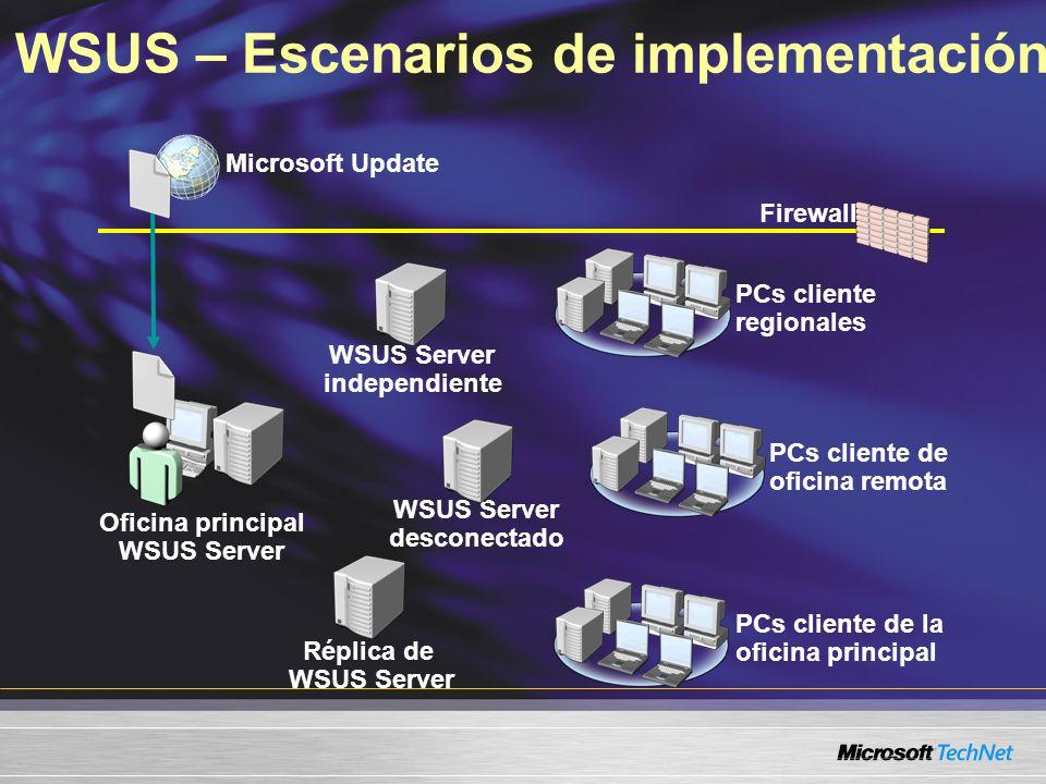 WSUS – Escenarios de implementación
