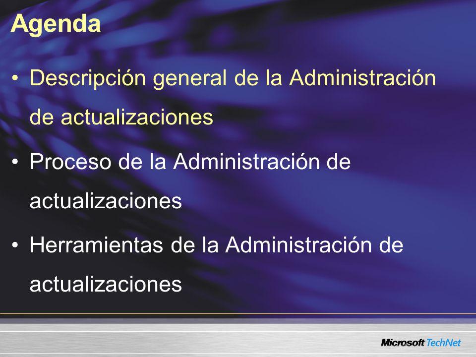 Agenda Descripción general de la Administración de actualizaciones