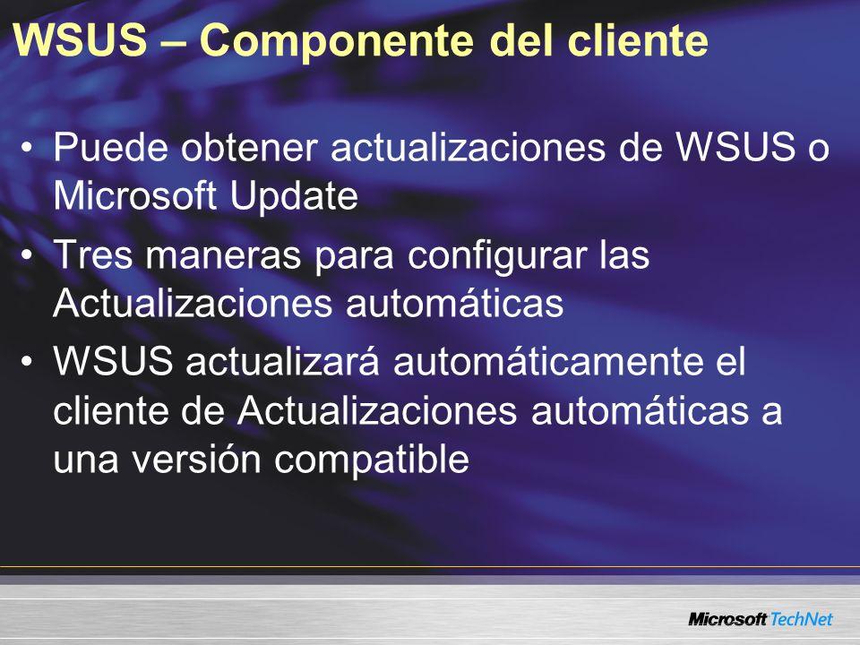 WSUS – Componente del cliente
