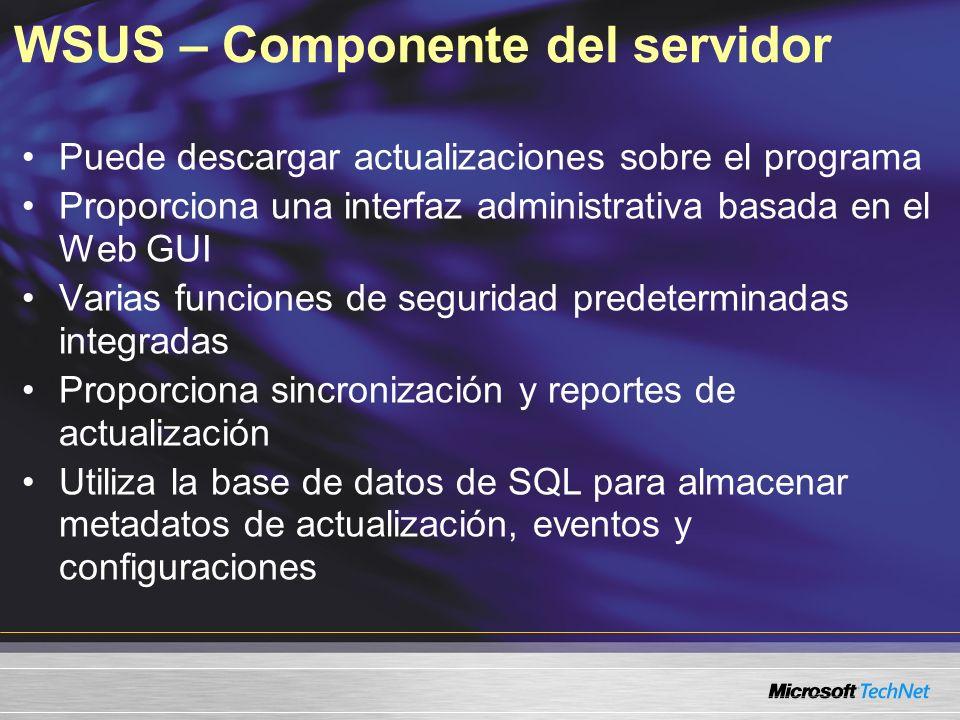 WSUS – Componente del servidor