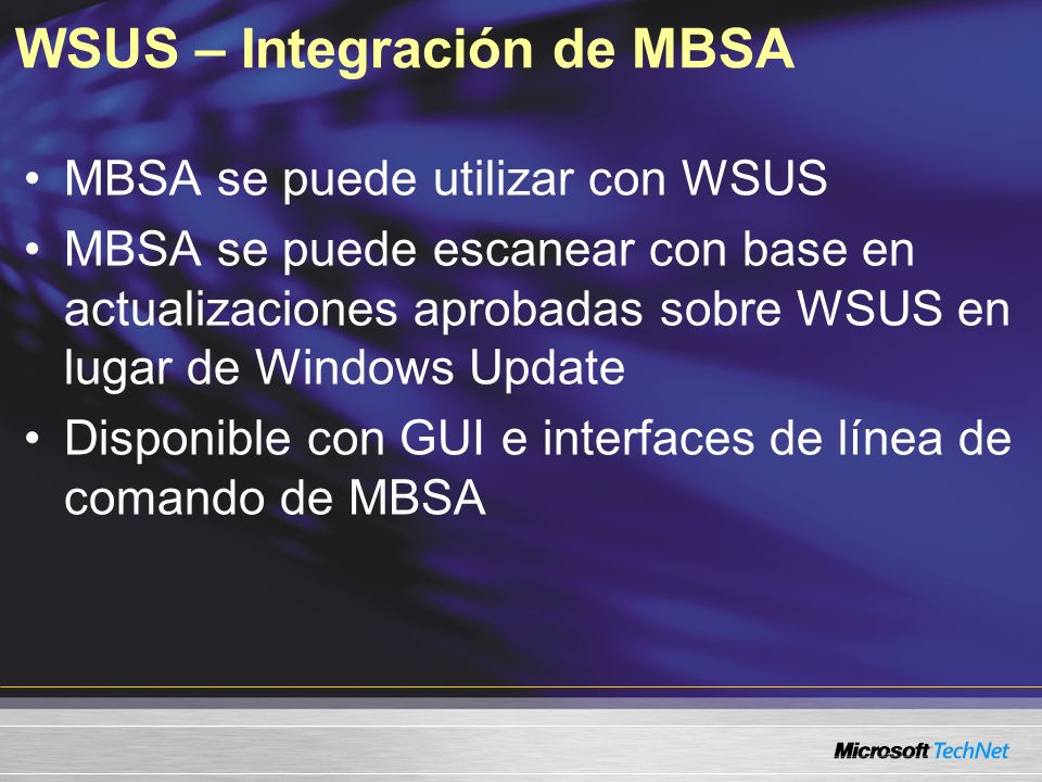 WSUS – Integración de MBSA