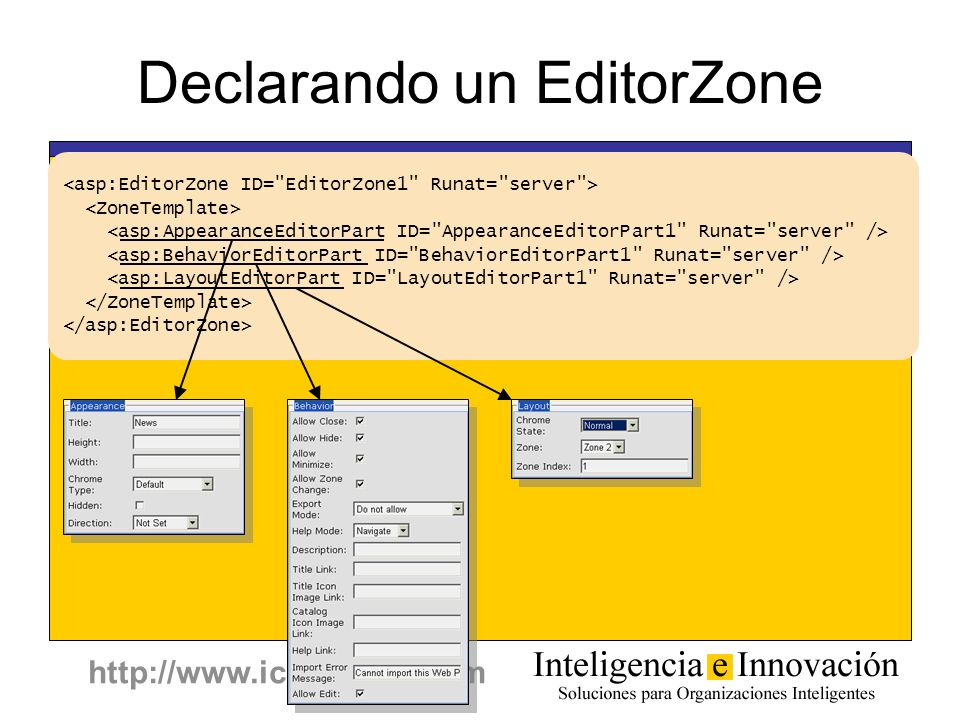 Declarando un EditorZone