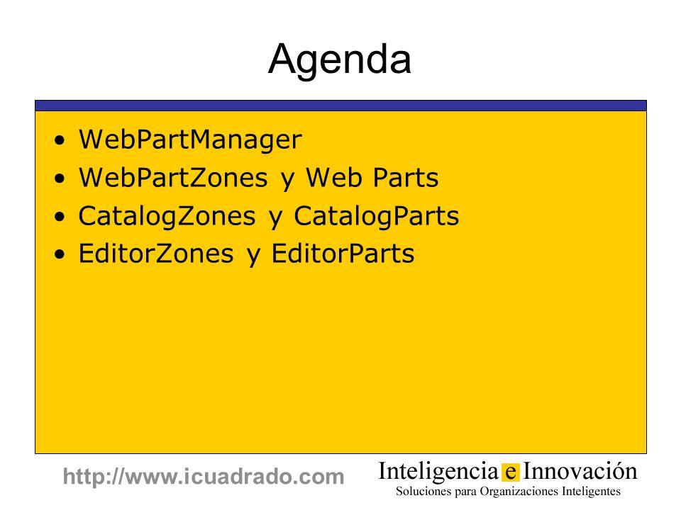 Agenda WebPartManager WebPartZones y Web Parts