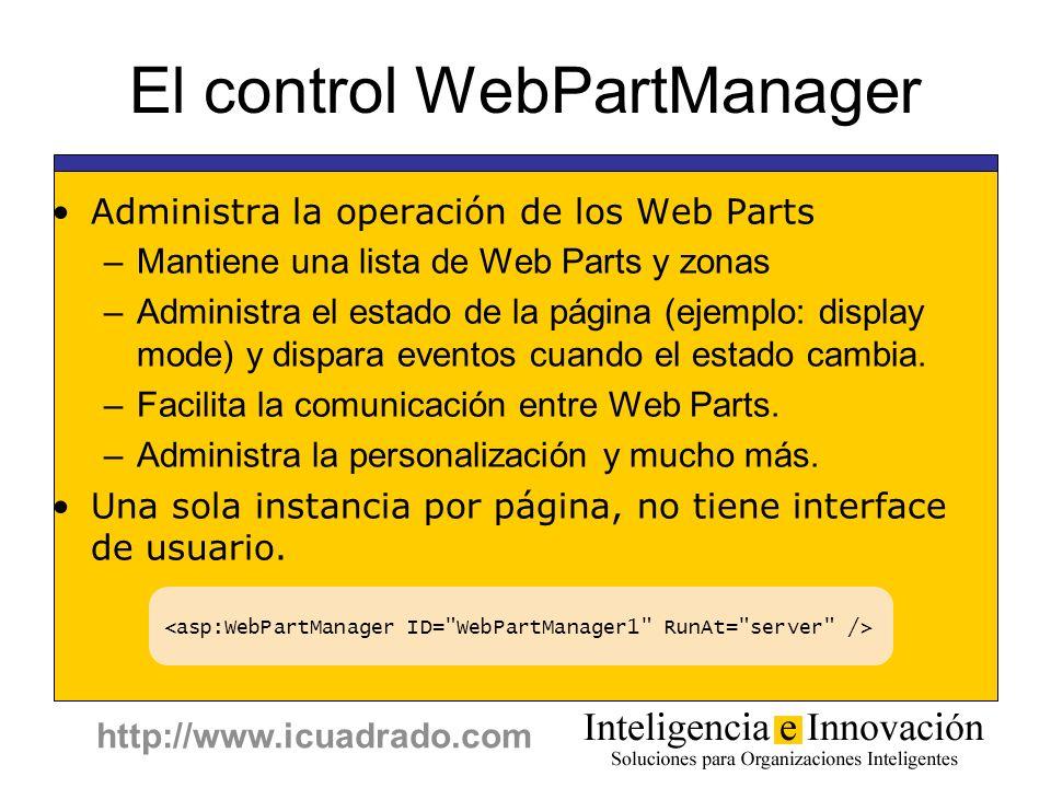 El control WebPartManager