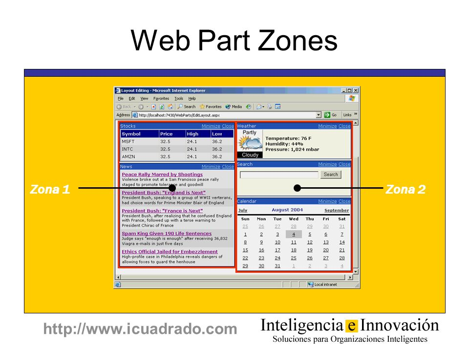 Programming ASP.NET Web Part Zones Zona 1 Zona 2 Copyright © 2001-2002