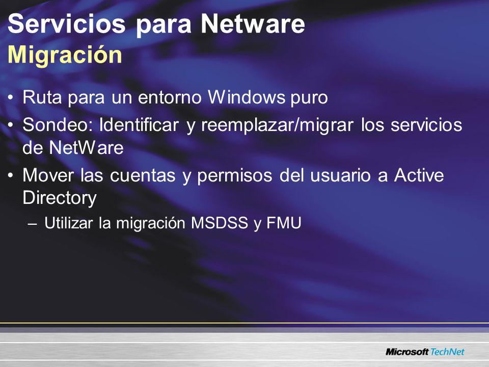 Servicios para Netware Migración