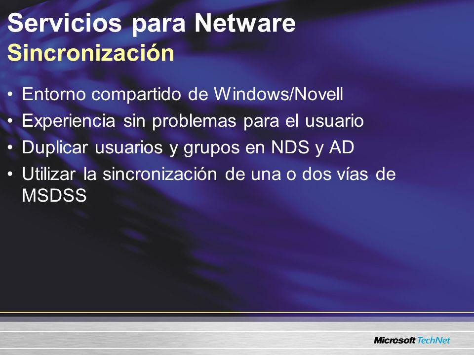 Servicios para Netware Sincronización