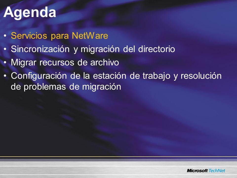 Agenda Servicios para NetWare