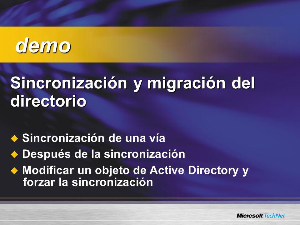 demo Sincronización y migración del directorio