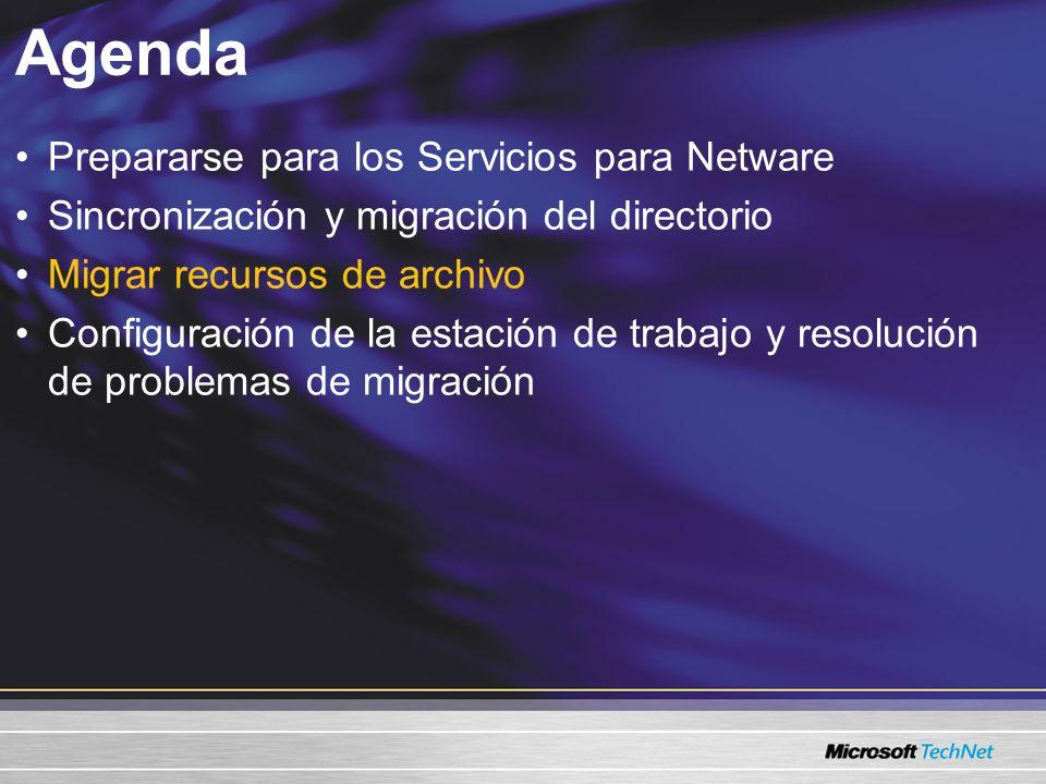 Agenda Prepararse para los Servicios para Netware