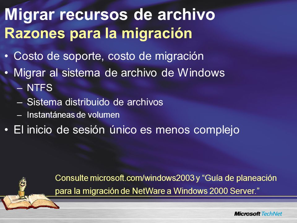Migrar recursos de archivo Razones para la migración