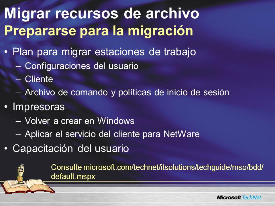 Migrar recursos de archivo Prepararse para la migración