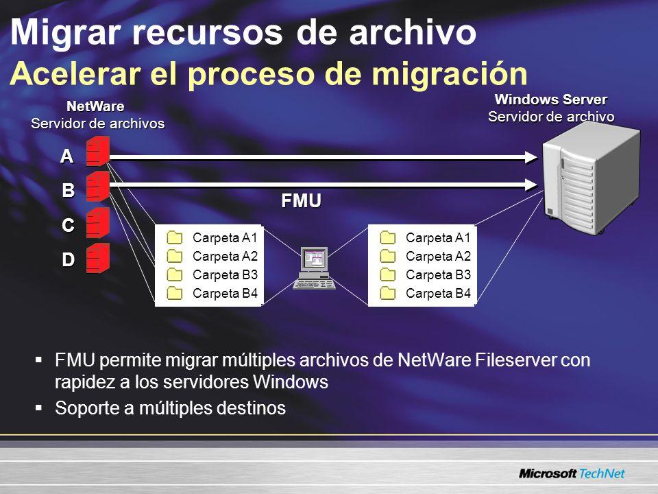 Migrar recursos de archivo Acelerar el proceso de migración