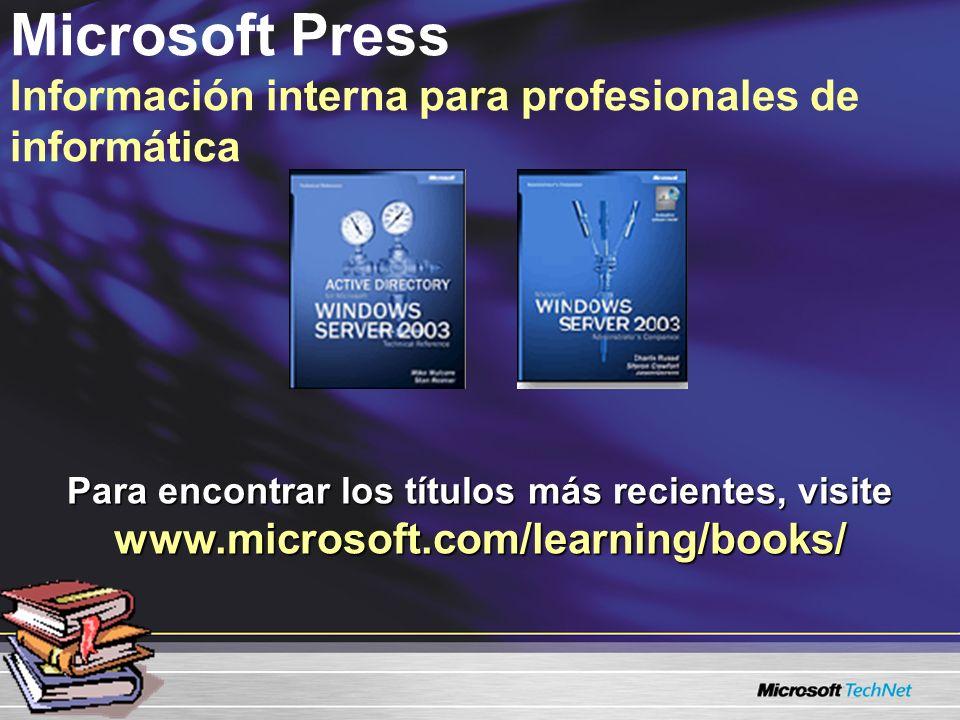 Microsoft Press Información interna para profesionales de informática