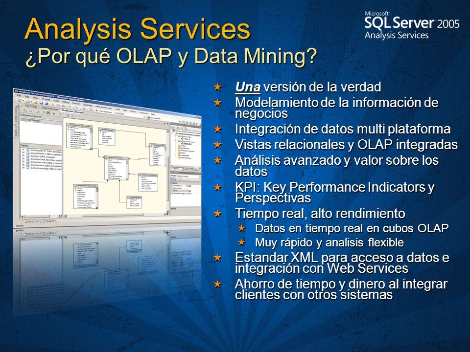 Analysis Services ¿Por qué OLAP y Data Mining