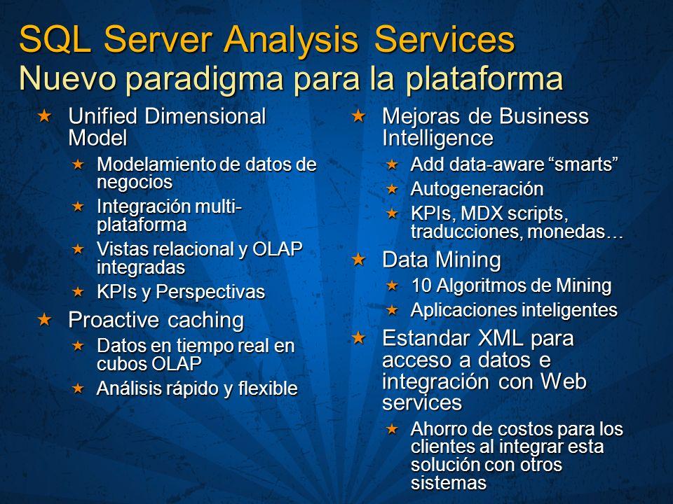 SQL Server Analysis Services Nuevo paradigma para la plataforma
