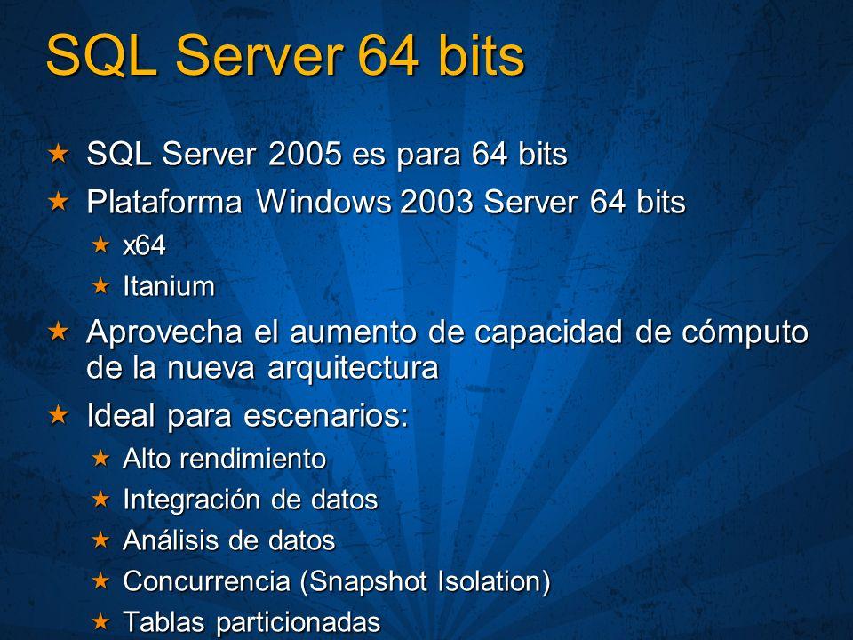 SQL Server 64 bits SQL Server 2005 es para 64 bits