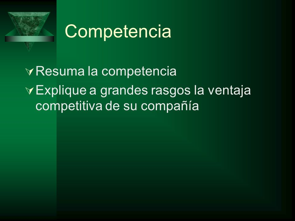 Competencia Resuma la competencia