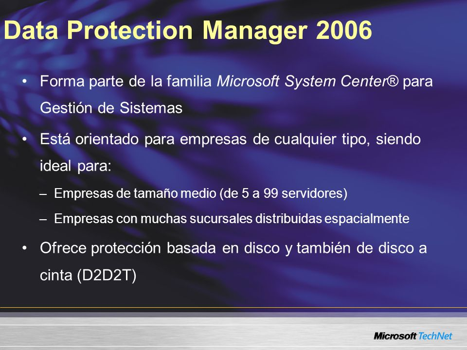 Data Protection Manager 2006