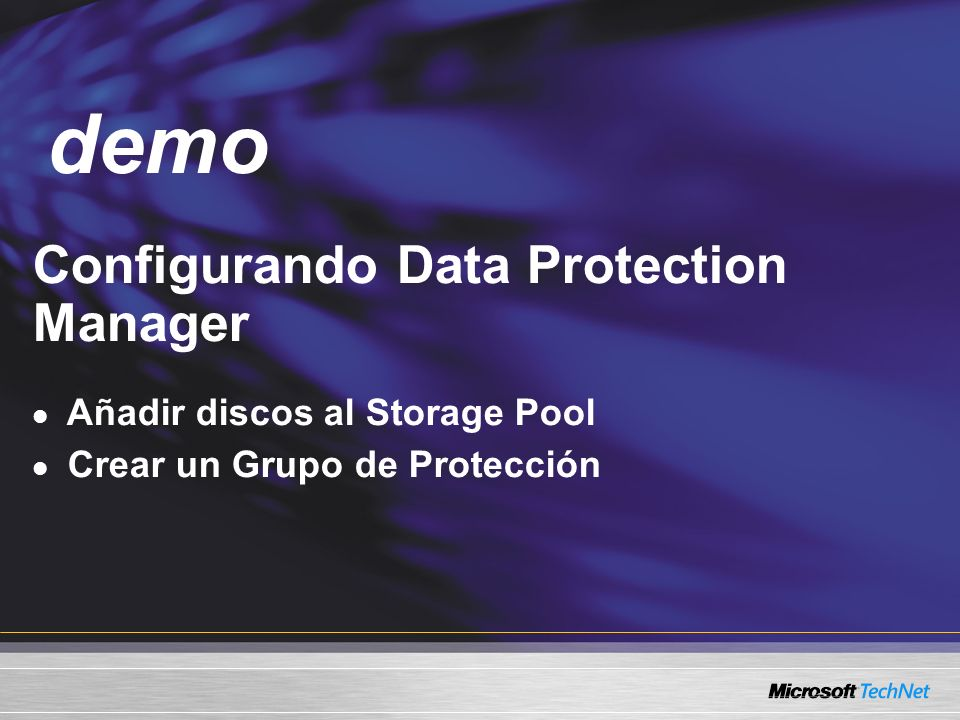 demo Demo Configurando Data Protection Manager