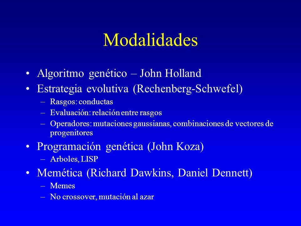 Modalidades Algoritmo genético – John Holland