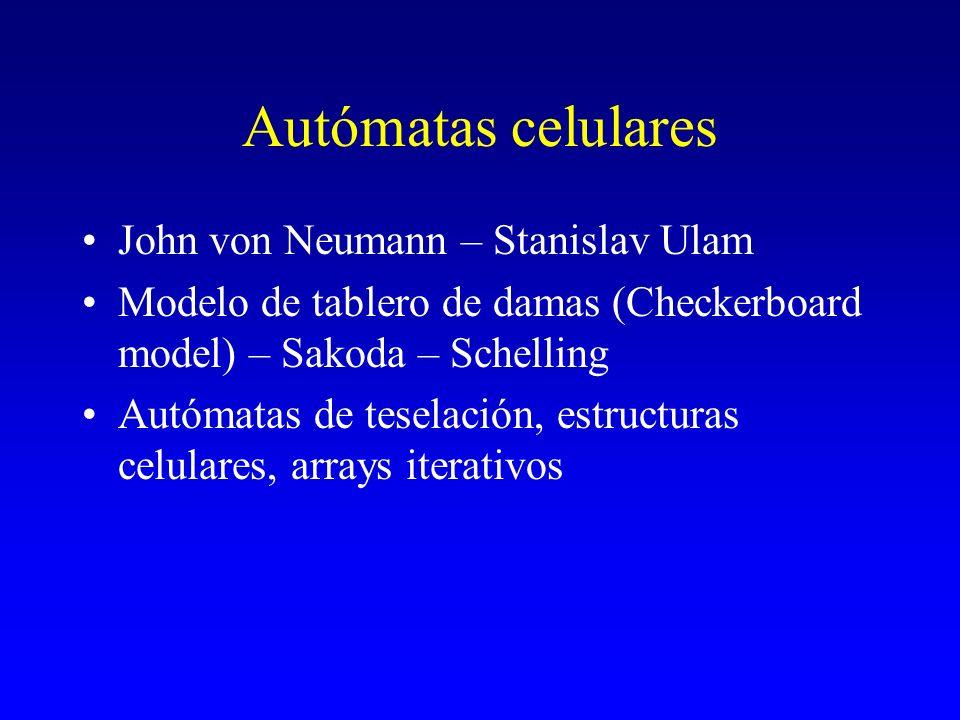 Autómatas celulares John von Neumann – Stanislav Ulam