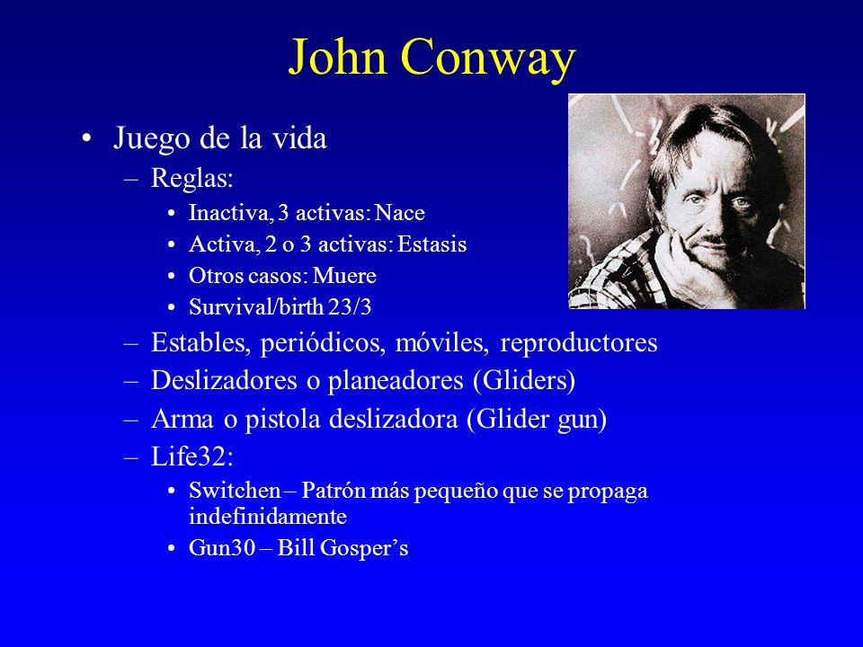 John Conway Juego de la vida Reglas: